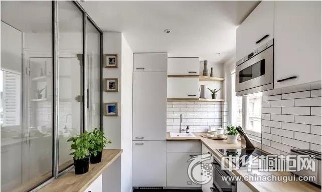 整体厨房效果图 白色橱柜效果图