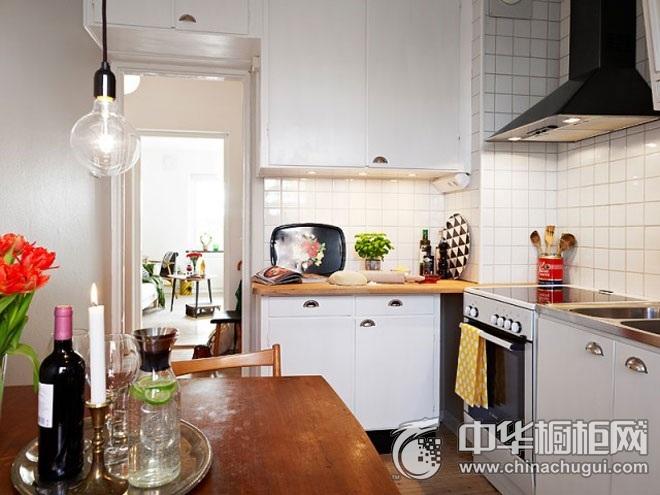 北欧风格橱柜图片 L型厨房装修效果图