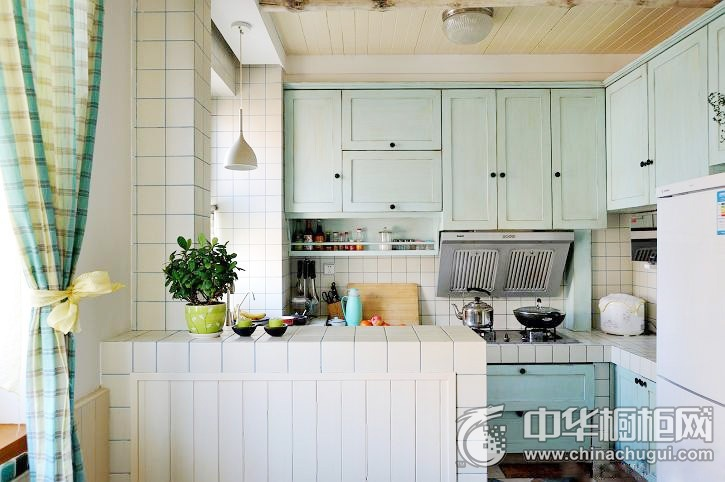 田园风格厨房效果图 厨房装修图片