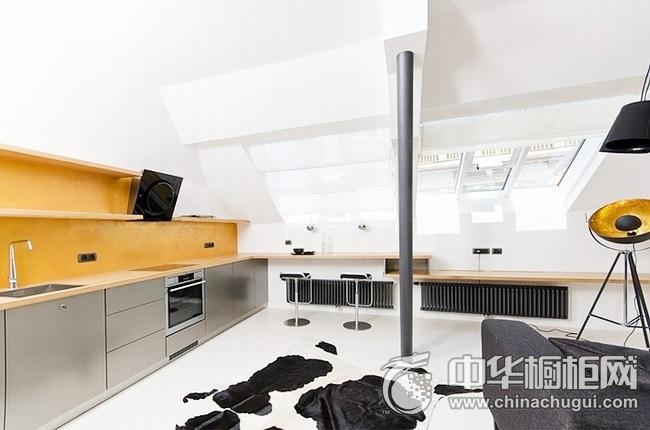 厨房装修设计效果图 一字型橱柜效果图