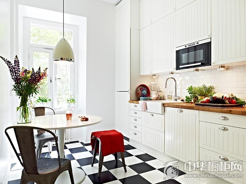 小厨房装修效果图 白色橱柜效果图