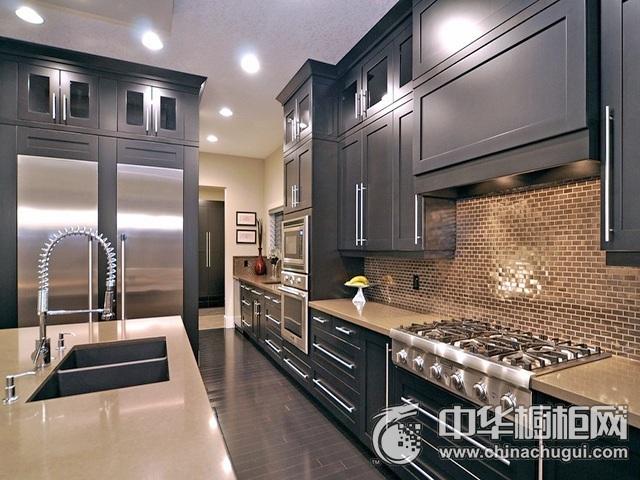 厨房间装修效果图 岛型橱柜图片