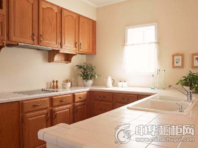 新中式厨房装修效果图 U型厨房装修效果图