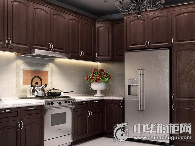 古典风橱柜图片 L型厨房装修效果图
