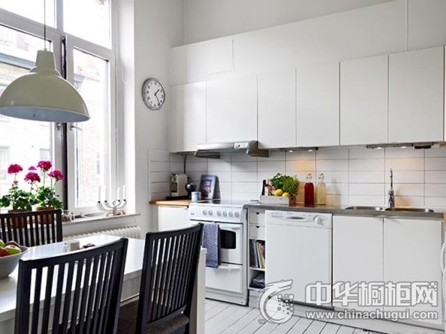 简约风格开放式厨房图片 橱柜装修效果图