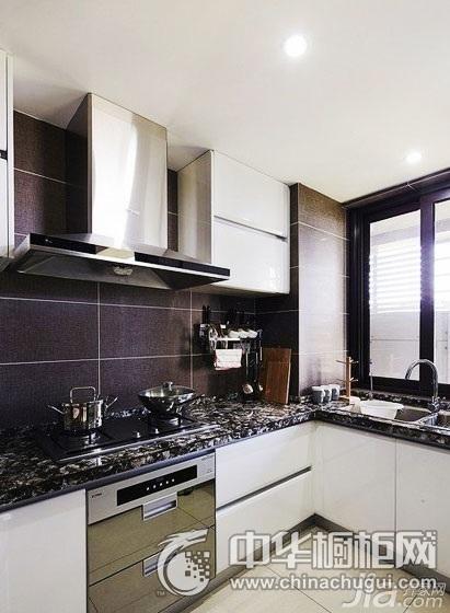 整体橱柜图片 集成灶装修效果图-现代时尚厨房效果图