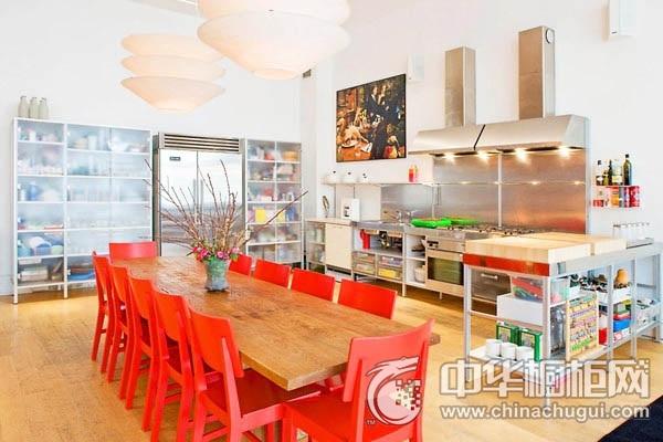 开放式厨房装修效果图 橱柜设计效果图