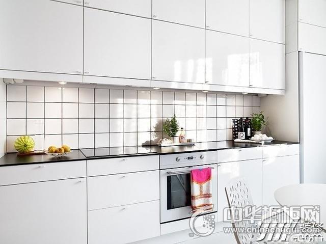 北欧风整体橱柜效果图 集成灶装修效果图-北欧风格厨房效果图橱柜装
