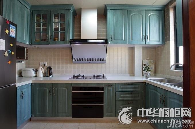 绿色橱柜装修效果图 集成灶装修效果图-橱柜图片 橱柜效果图 厨房装修