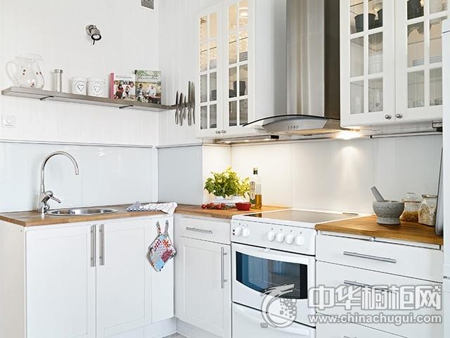 北欧风格厨房设计图 L型橱柜图片