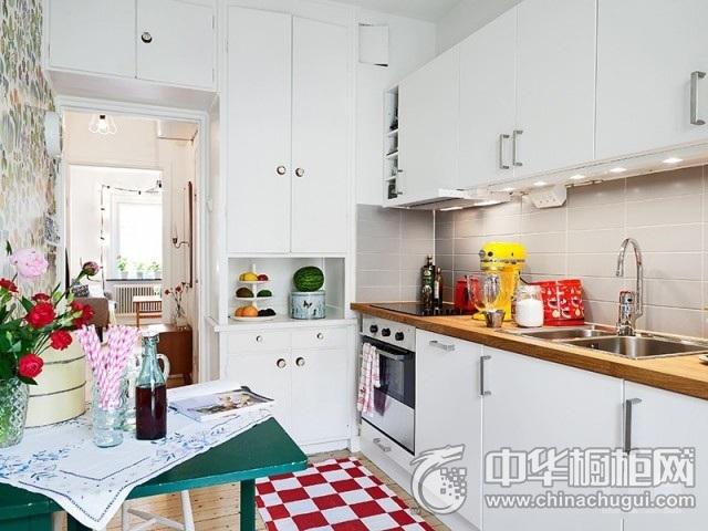 小厨房橱柜设计图 一字型厨房装修效果图