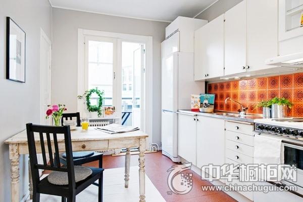 小厨房装修效果图 一字型橱柜设计图
