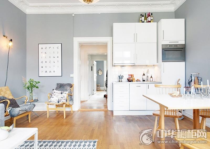 厨房装修效果图 白色系橱柜效果图