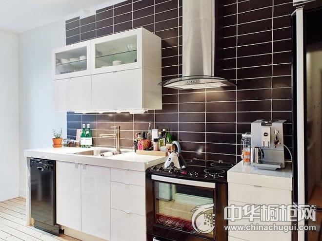 小厨房装修效果图 一字型厨房装修效果图