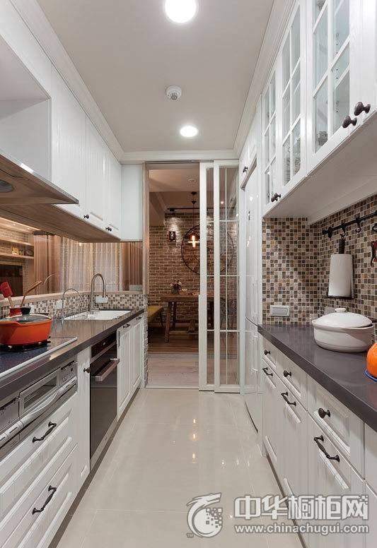 美式厨房装修效果图 2017集成灶效果图-美式厨房图片橱柜装修效果图