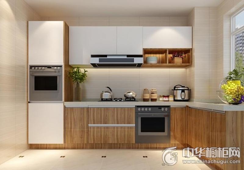 现代厨房橱柜装修效果图片 集成灶装修效果图