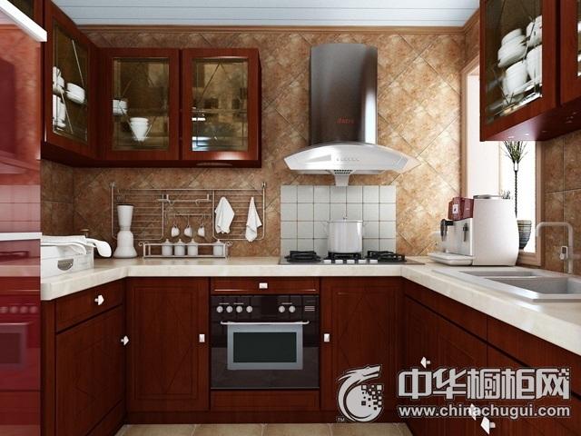 中式实木橱柜效果图 厨房装修效果图大全