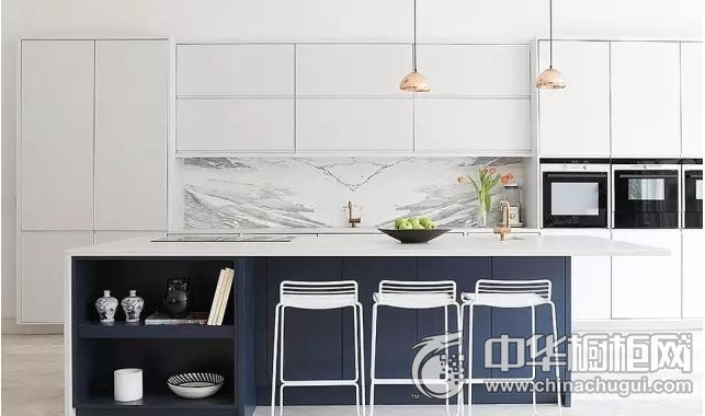 简约风格橱柜效果图 白色整体橱柜