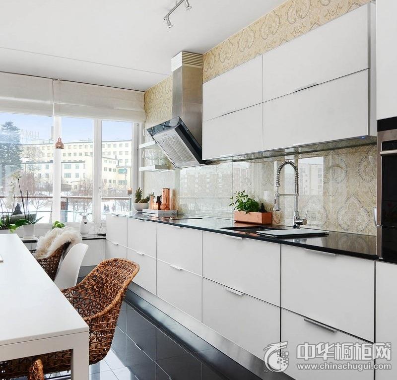 北欧风格橱柜效果图  白色系整体橱柜图片