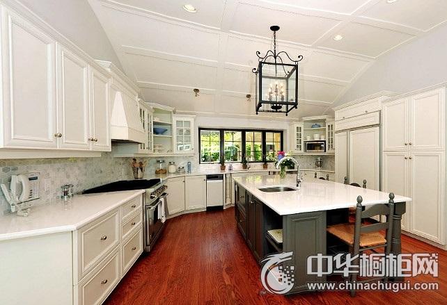白色唯美厨房设计图  整体橱柜装修效果图