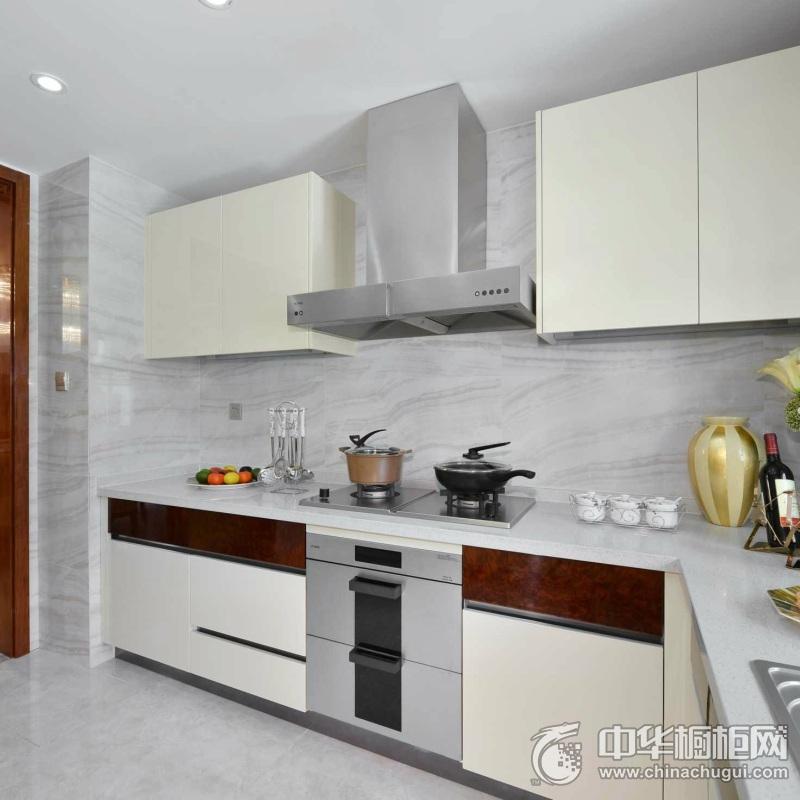现代简约风格橱柜图片  开放式厨房装修效果图