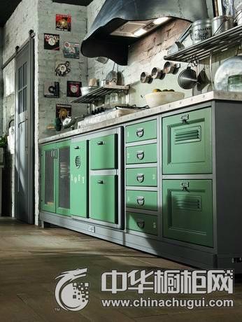 工业风格橱柜设计  工业风厨房图片
