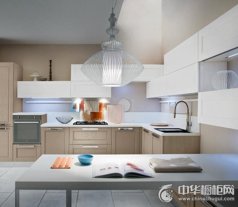 简欧风格整体橱柜效果图   L型厨房设计