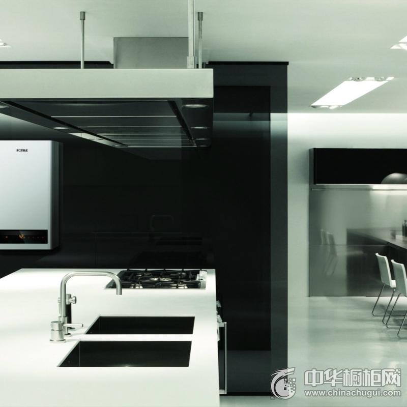 黑白色系橱柜装修效果图   整体橱柜图片