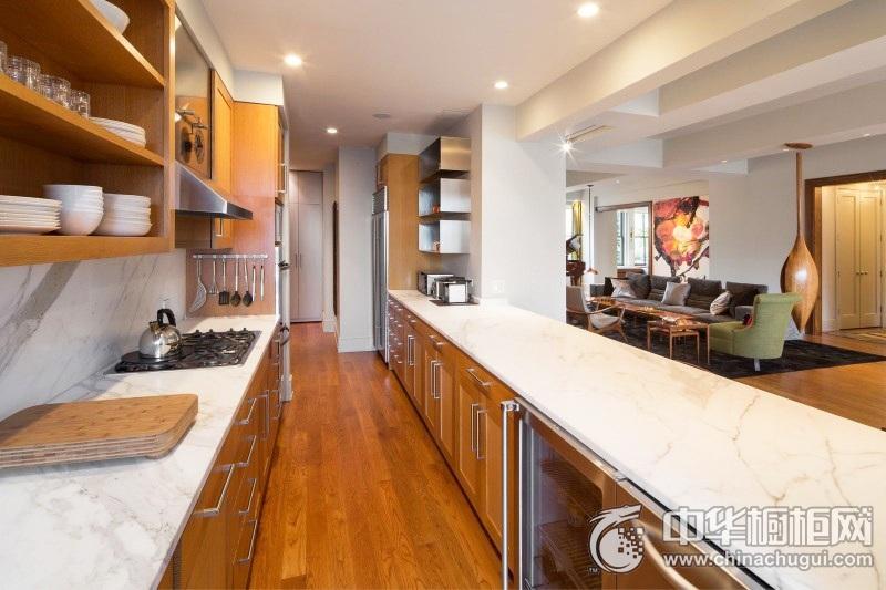 美式风情整体橱柜装修效果图   U型厨房设计