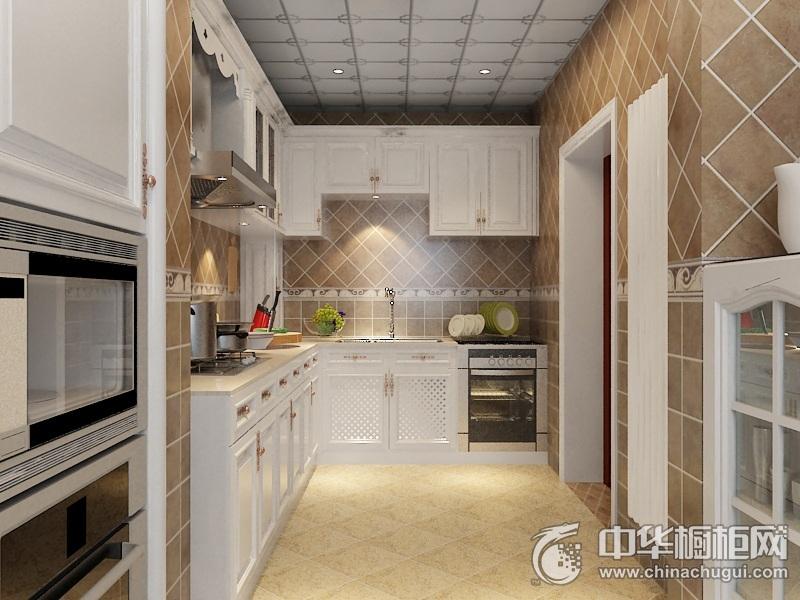 新中式风格整体橱柜图片   L型橱柜装修效果图