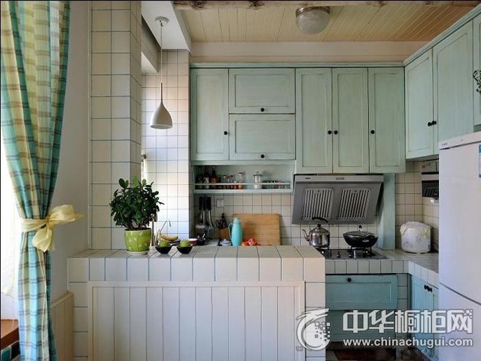 浪漫地中海风格厨房装修效果图   整体橱柜图片