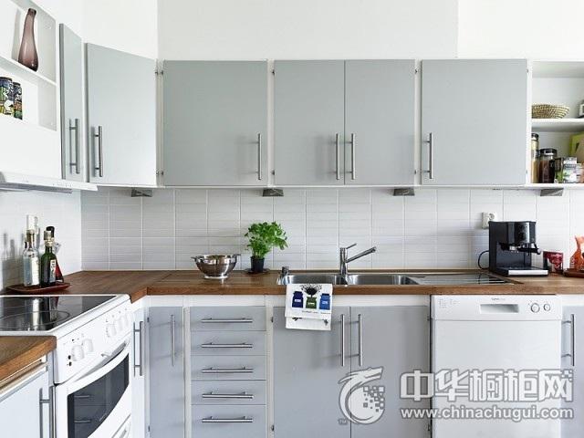 简约新主张 铅笔灰清爽装修风格厨房图片   整体橱柜图片