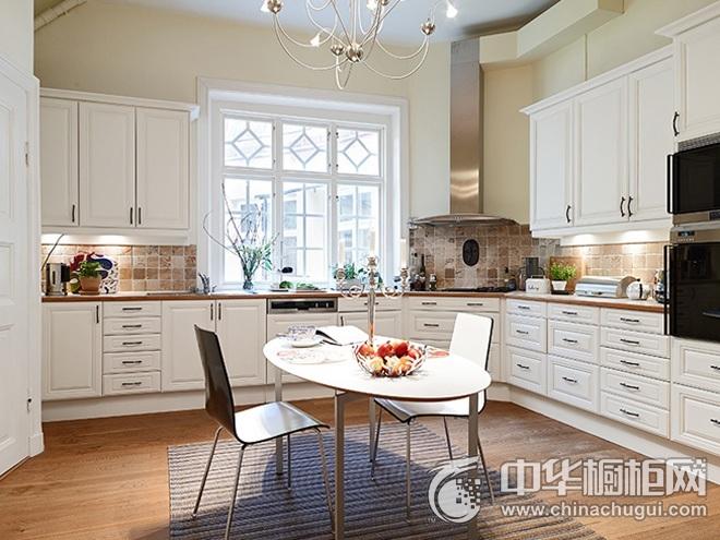 简欧风格整体橱柜图片   大户型厨房装修效果图
