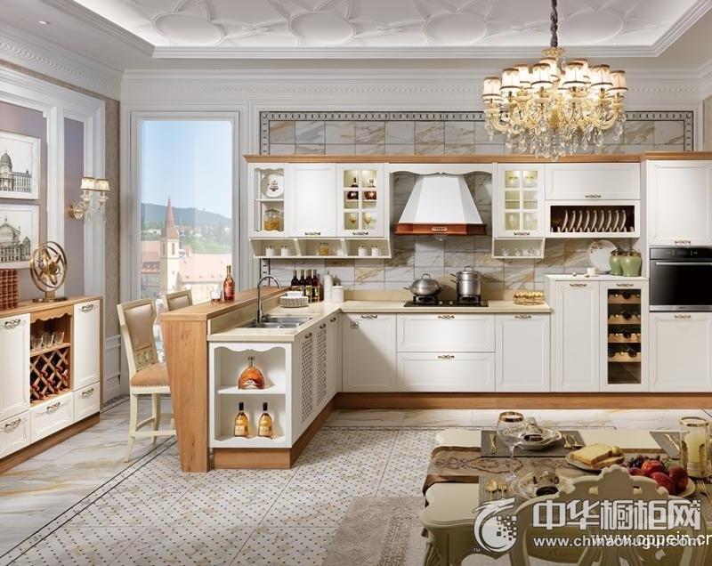 欧派橱柜  欧式风格厨房装修效果图   左岸花园整体橱柜 编号:OPC0010090