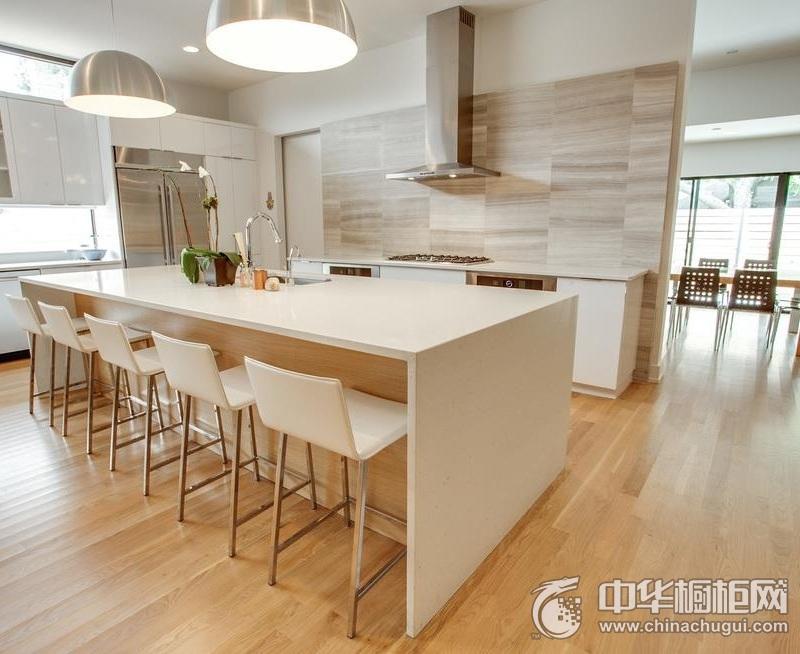 简欧风格整体橱柜装修效果图   开放式厨房图片