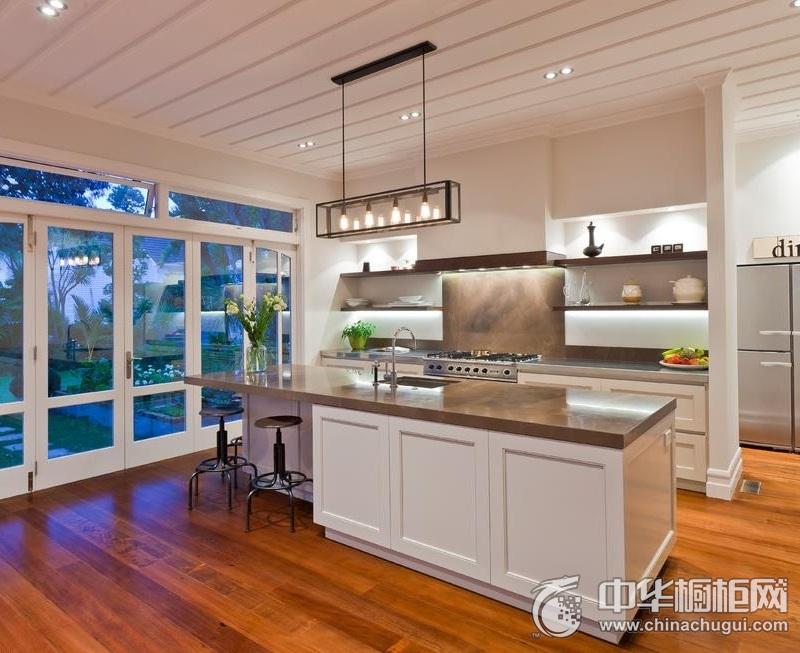 简欧风格橱柜图片   开放式厨房装修效果图