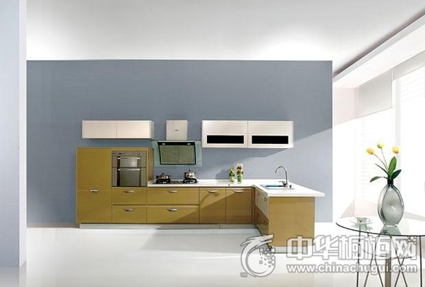 皮阿诺橱柜  金色探戈橱柜图片   L型整体橱柜装修效果图