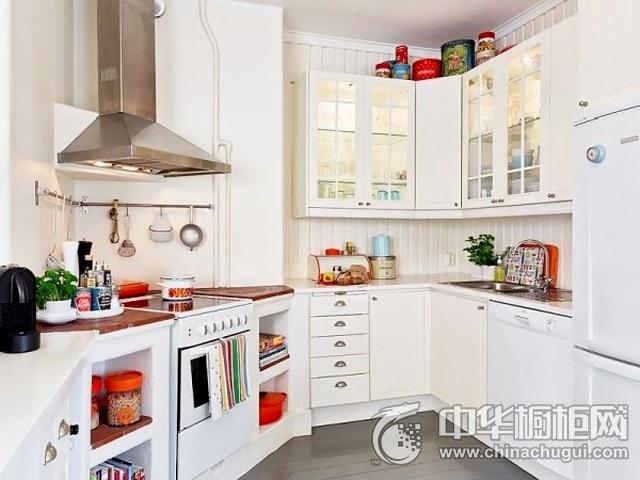 北欧风格L型橱柜装修效果图   开放式厨房图片