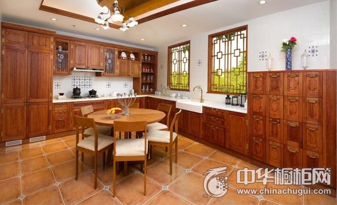 德宝西克曼橱柜-紫阁云斋系列整体橱柜图片  新中式风格厨房装修效果图