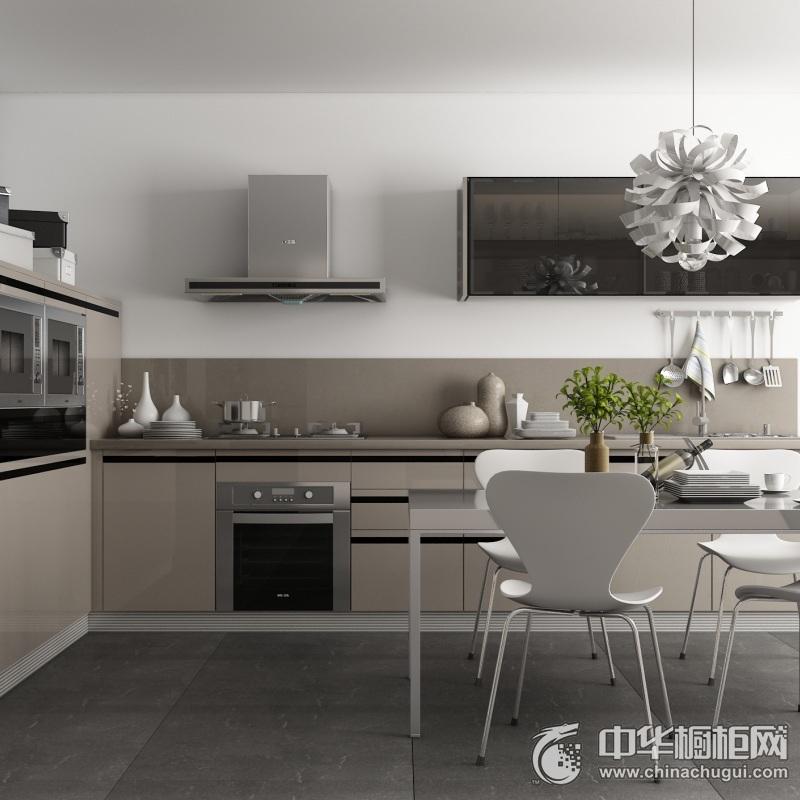 我乐厨柜-地平线系列整体橱柜图片  现代简约风格橱柜装修效果图