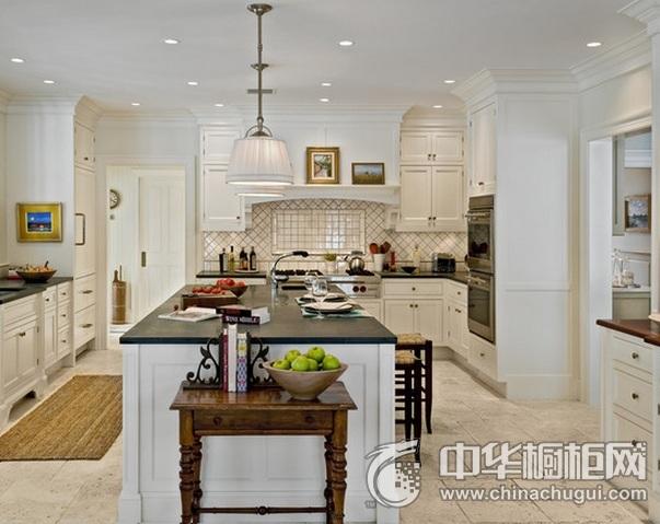 岛型整体橱柜图片 别墅开放式厨房设计