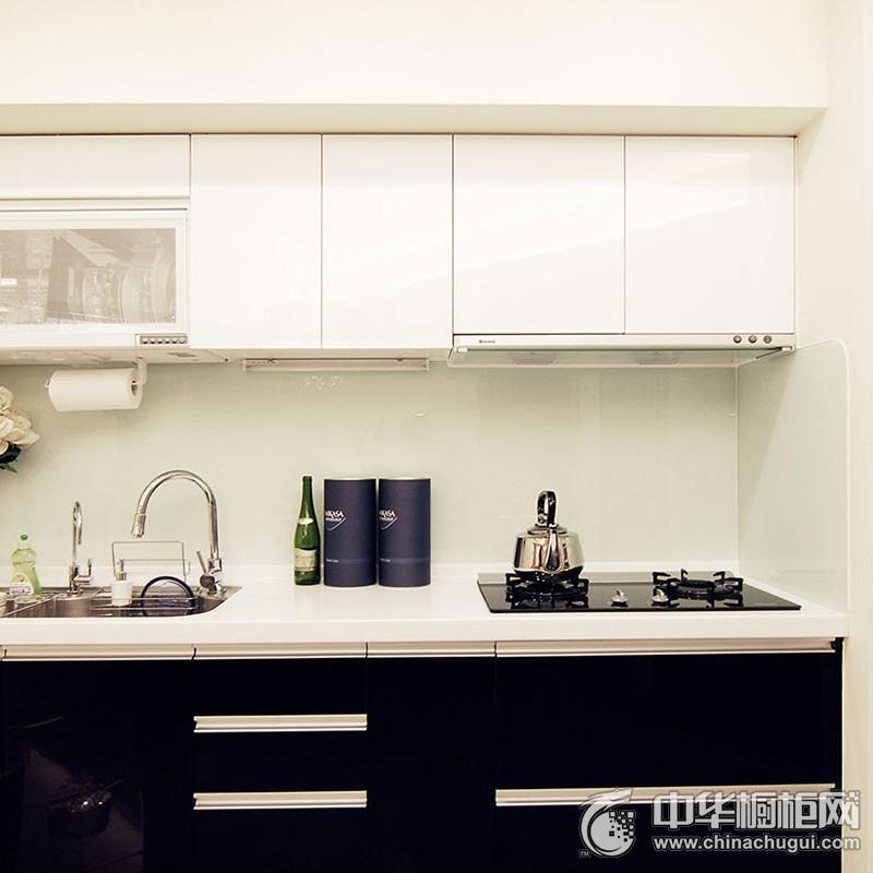 简约风格橱柜图片 一字型整体橱柜装修效果图