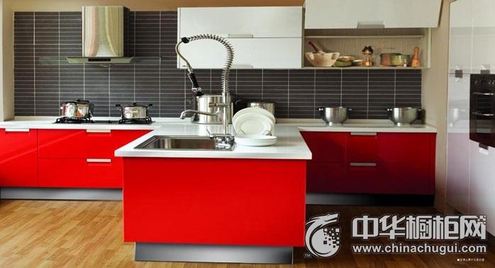 家博士橱柜 前卫系列-红与白橱柜图片 岛型橱柜效果图