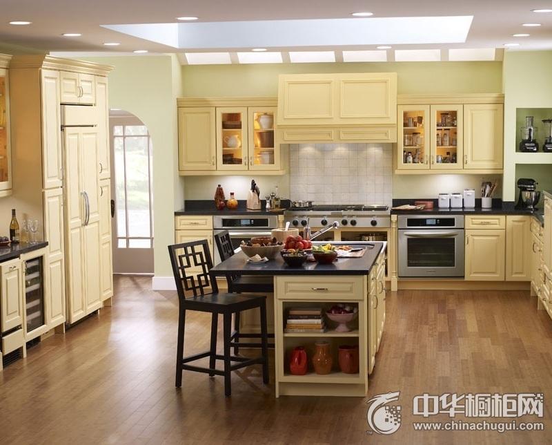 简欧风格厨房效果图 岛型橱柜图片