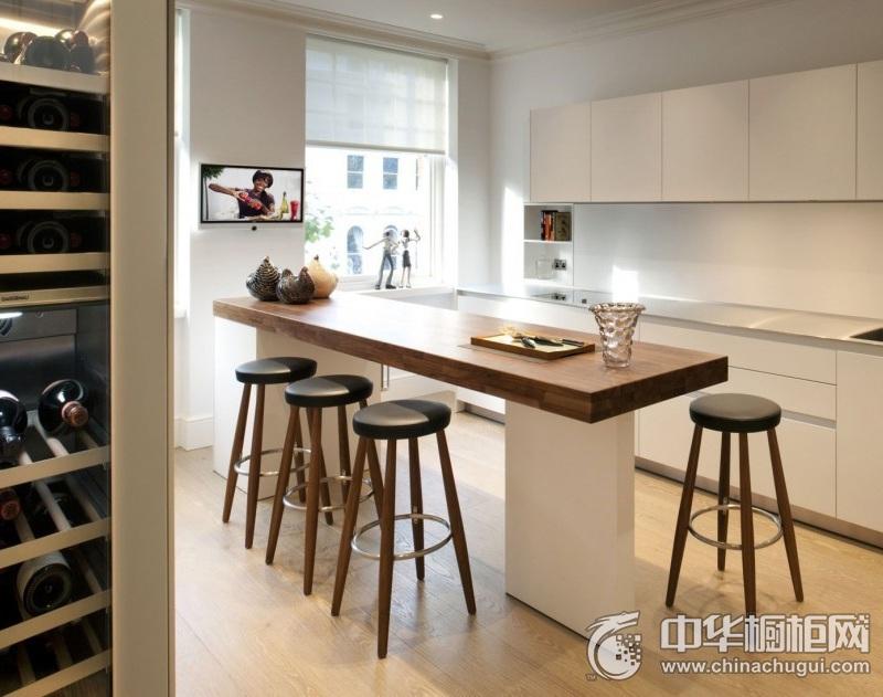 简约风厨房图片 一字型橱柜效果图