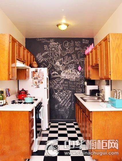 田园情趣风格厨房装修效果图 一字型橱柜图片