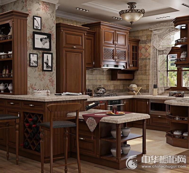 易佰利厨柜 意大利进口-维罗纳橱柜效果图 U型橱柜图片