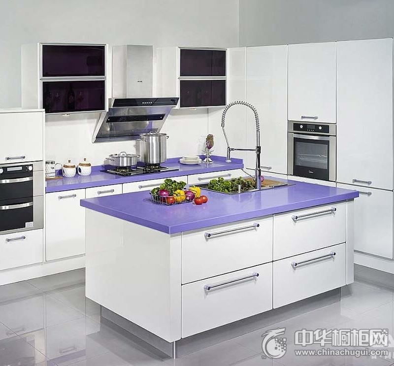 佳居乐智橱柜 CAIK-06 紫罗蘭橱柜图片 岛型橱柜效果图