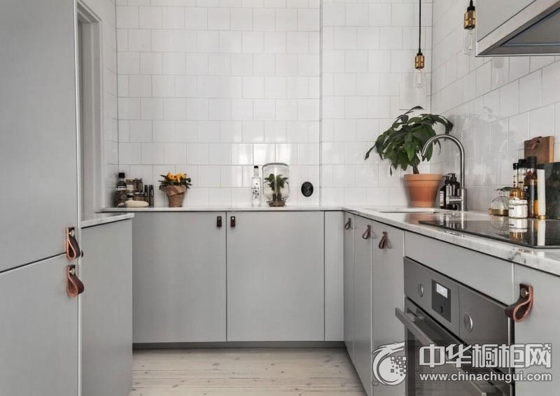 北欧风格橱柜图片 灰色系橱柜效果图