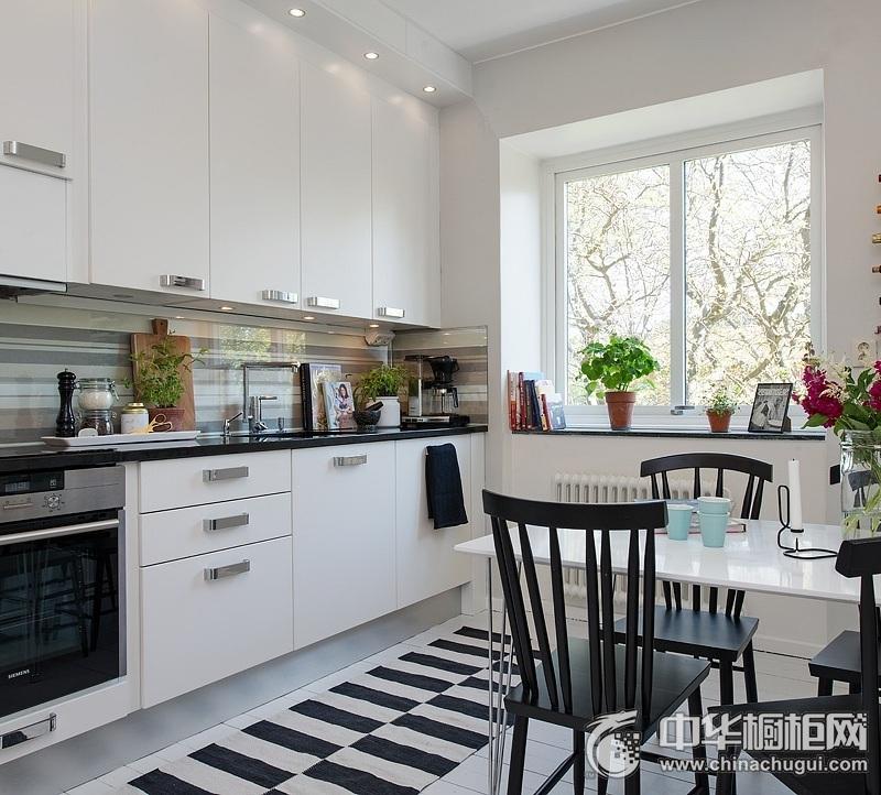 北欧风格橱柜图片 开放式厨房装修效果图